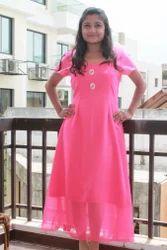 Pink Designer Frock