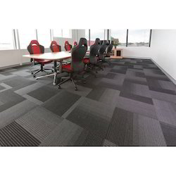 Polyester Printed Commercial Floor Carpets for Office, Size: 20inch X 20 Inch