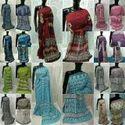 Hand Block Prints Casual Wear Bagru Dabu Ajrakh Print Cotton Saree, Machine Made, 6.3 M (with Blouse Piece)