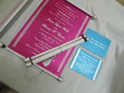 Multi Boxed Scroll Wedding Invite With RSVP Card And Envelope