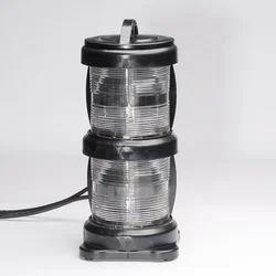 Glass & Steel Double Tier Light