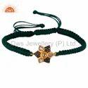 Pave Diamond Cotton Dori  Bracelet Macrame Designer Jewelry