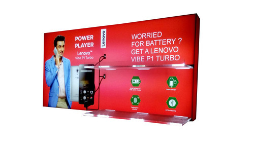 Red Acrylic Wall Mount Charging Station- Model Lenovo