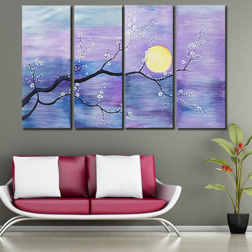 Multiple Frames The Sun Tree Wall Decor Oil Canvas Painting At Rs