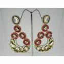 Ultra Shine Bhupati 925 Sterling Silver Kundan Earrings