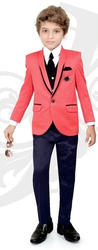 Boys Available In Single Colour Kids Blazer Suit