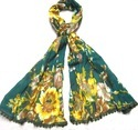 Floral Print Cotton Stoles