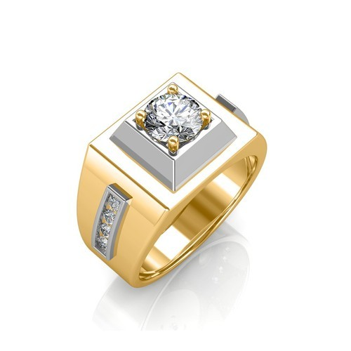 Wedding Rings For Men India: Sarvada Jewels Real Diamond Rings For Men, Size: Free Size