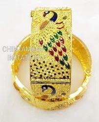 Gram Gold Plated Wedding and Regular Wear Bangle