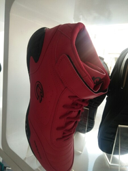 Men Red Ankle Shoes