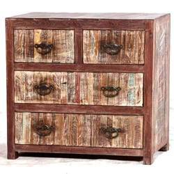 Reclaimed Wood Drawers Cabinet