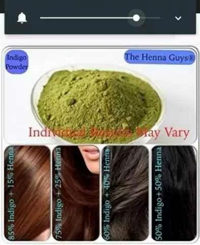 Light Brown Black Natural Indigo Powder Hair Colour Usage