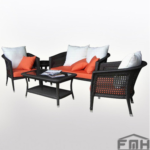 Outdoor Furniture-Wicker Sofa