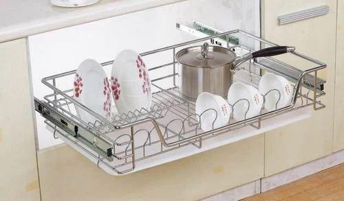 Kitchen Slide Out Drawer Basket, रसोई की स्लाइड आउट ड्रार ...