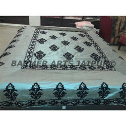 Silk Suzani Embroidery Boota Bed Cover