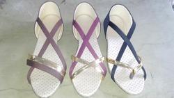 Women Sandale Designer Flat Sandals, Size: 36 To 41