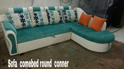 Round Corner Sofa Cum Bed With Storage