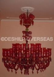Antique Red Chandelier