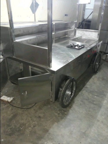 Silver Stainless Steel Movable Food Cart Rs 110000 No