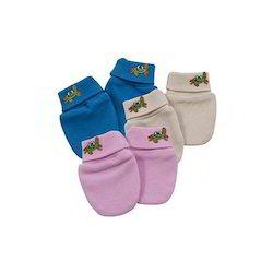 Unisex 100% Cotton - Interlock Baby Gloves, Age Group: 0-1yr, 1-2yr