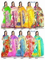 Pallavi Printed Chiffon Saree