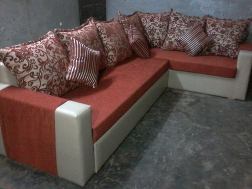 Leather Red Corner Sofa Set With Pillow Rs 25000 Piece Noor Sofa