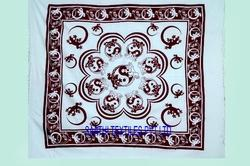 Beige Cotton Tapestry Wall Hanging Decor Bohemian