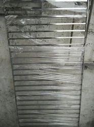 Silver Exterior Stainless Steel Door Grill