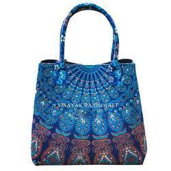 Vinayak Handicraft Multicolor Cotton Mandala Tapestry Bohemian Ethnic Tote Bag, Packaging Type: PP Bag