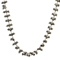 Natural Pyrite Cluster Beaded Chain Necklace