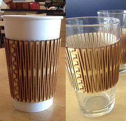 Laser Cut Hot Tea & Coffee Cup Cover