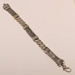 Casual,Party 92.5 Sterling Silver Plain Chain Designer Fine Quality Bracelet