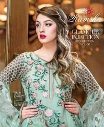 Ramsha Vol 6 Embroidered Chiffon Collection Suit