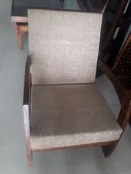 Wooden Half Rocking Chair