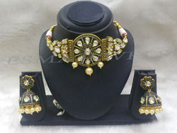 Polki pendant set in jaipur rajasthan manufacturers suppliers kundan polki set aloadofball Images