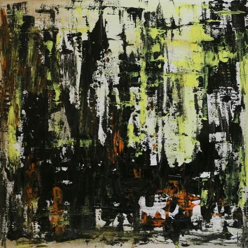 Abstract Painting The Chaotic City Skyline