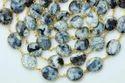 Dendrite Opal Bezel Gemstone Connector Chain