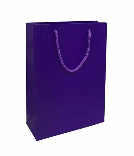 Paper bags purple