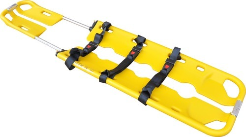 Niscomed Yellow Plastic Scoop Stretcher, Size: 120x44x9cm, For Ambulance
