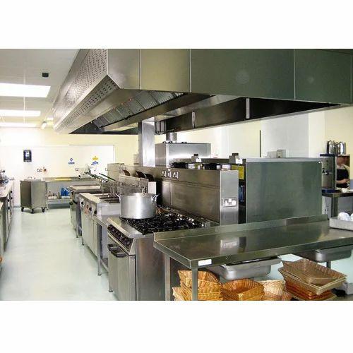 Shree Ambica Stainless Steel Hotel Modular Kitchen