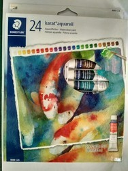stedler assorted water color cake, pach of 24
