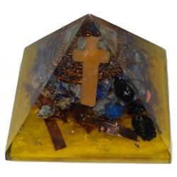 Orgone Pyramid Of Blue Crystal