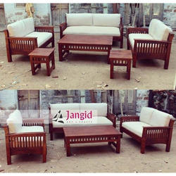 Jangid Art And Crafts Brown Indian Wooden Living Room Furniture