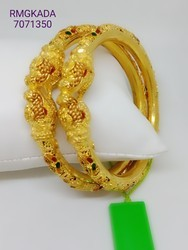 2pc Fancy Gold Plated Kada