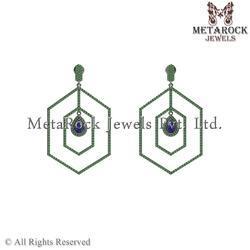 925 Sterling Silver Mix Gemstone Earring