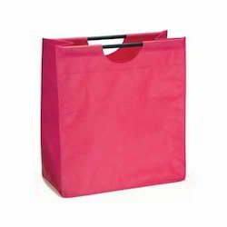 Wooden Handle Plain Shopping Bag