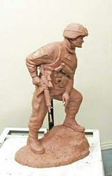Army Clay Sculptures
