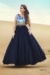 Georgette Plain Party Wear Dresses