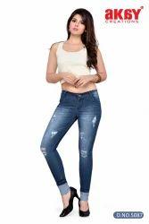 Ladies Denim Jeans, Size: 28-30