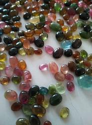 Tourmaline Beads - Multi Color Stone